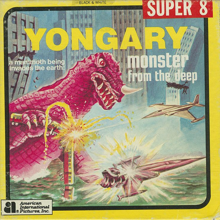 Super 8 film box for YONGARY: MONSTER FROM THE DEEP