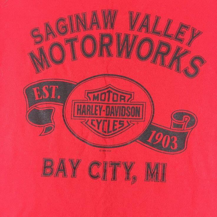 Men S Harley Davidson T Shirt Biker Motorcycle Saginaw Valley Bay City Mi 1995 L Harleydavidson Graphictee C In 2020 Harley Davidson Harley Harley Davidson T Shirts