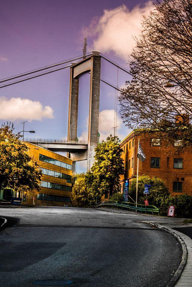 Gothenburg city! A great shot of Älvsborgs bridge! What a magnificent architecture!