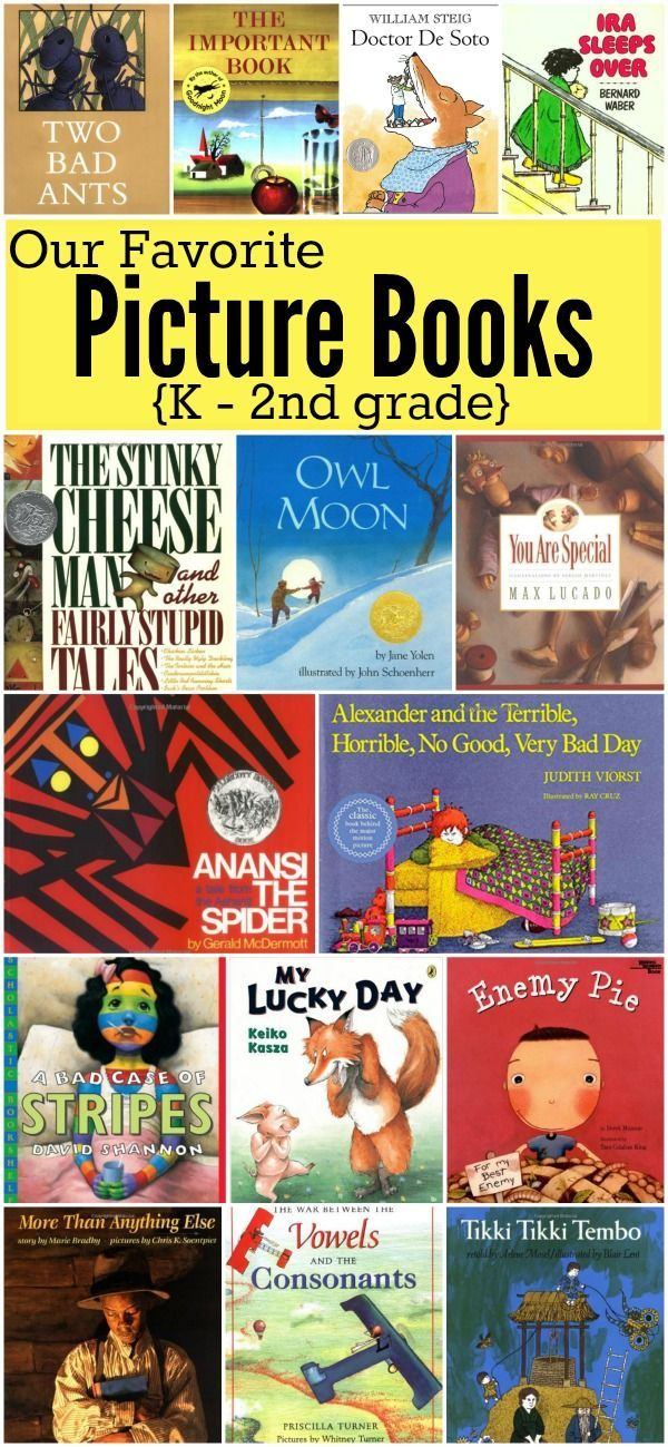 Favorite Picture Books For K 2nd Grade Books Books Kindergarten