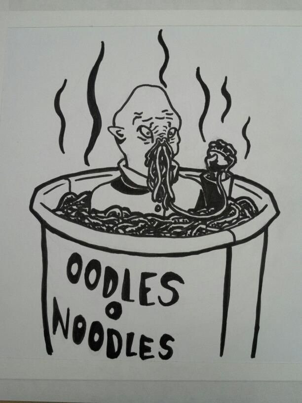 Oodles O Noodles - Doctor Who Ood Fanart by ~Ongnissim on deviantART