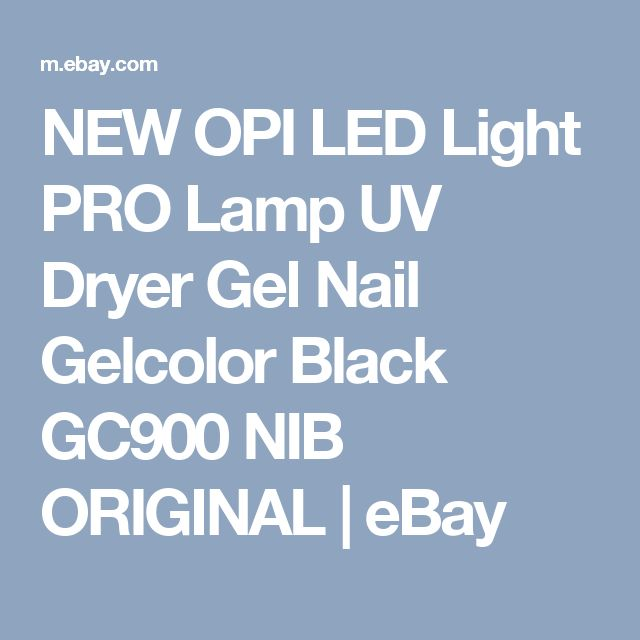 NEW OPI LED Light PRO Lamp UV Dryer Gel Nail Gelcolor Black GC900 NIB ORIGINAL  | eBay