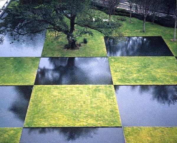 The corporate garden for NTT Musashino Research and Development Centerin Tokyo by Landscape Architect Yoji Sasaki