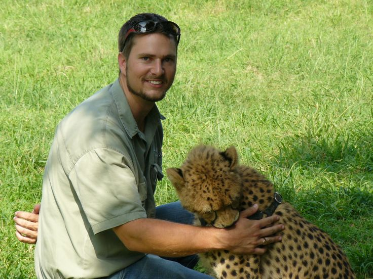 Tim Brown at a cat rehabilitation center on one of his Durban Safari Tours