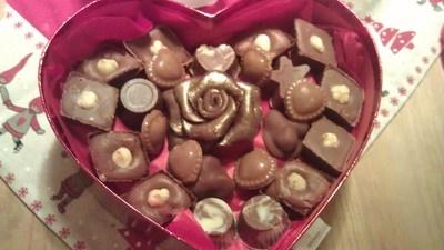 -Home made chocolate box