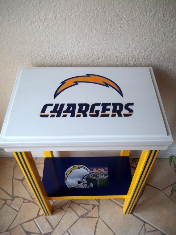 Hey, I found this really awesome Etsy listing at https://www.etsy.com/listing/195606634/san-diego-chargers-inspired-table-yellow
