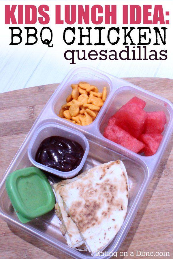 BBQ CHICKEN QUESADILLAS RECIPE   EASY TASTY LUNCH IDEAS242 best Lunch images on Pinterest   Healthy lunches  Kid lunches  . Easy Tasty Lunch Ideas. Home Design Ideas