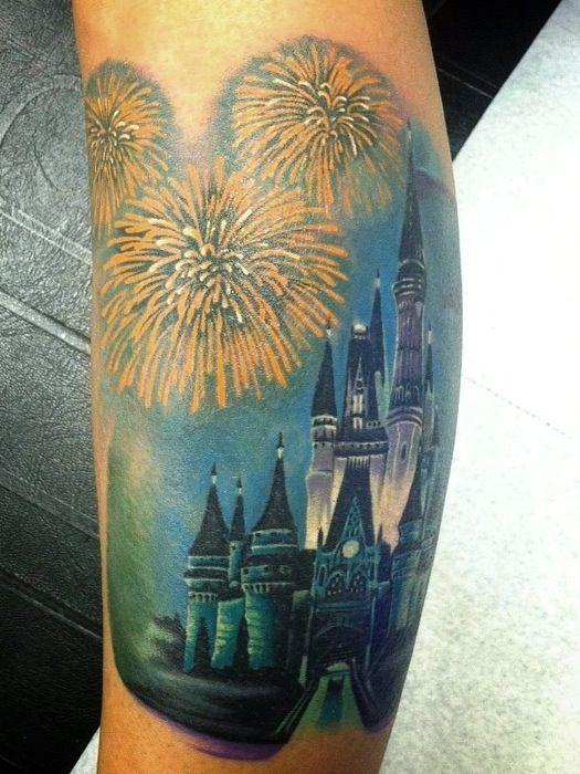 Cinderella Castle Tattoo- this tattoo is beautiful!