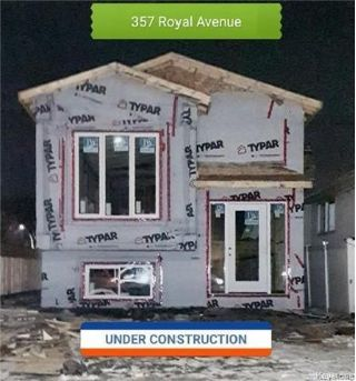 359 Royal Ave, ($279,900) 2 New Bi-Levels on West Kildonan! Quality materials and good workmanship. Nice open concept plan with two entrances front and side door. 3 good size bedrooms. 359 & 357 Belmont Avenue are both under construction, expected completion end of Dec. 2017 for 357 Belmont and 359 Belmont tentative completion is January.  Everything is here HRV, sump pump, High efficient furnace, high end laminated floorings, designer's kitchen with backsplash, and more!