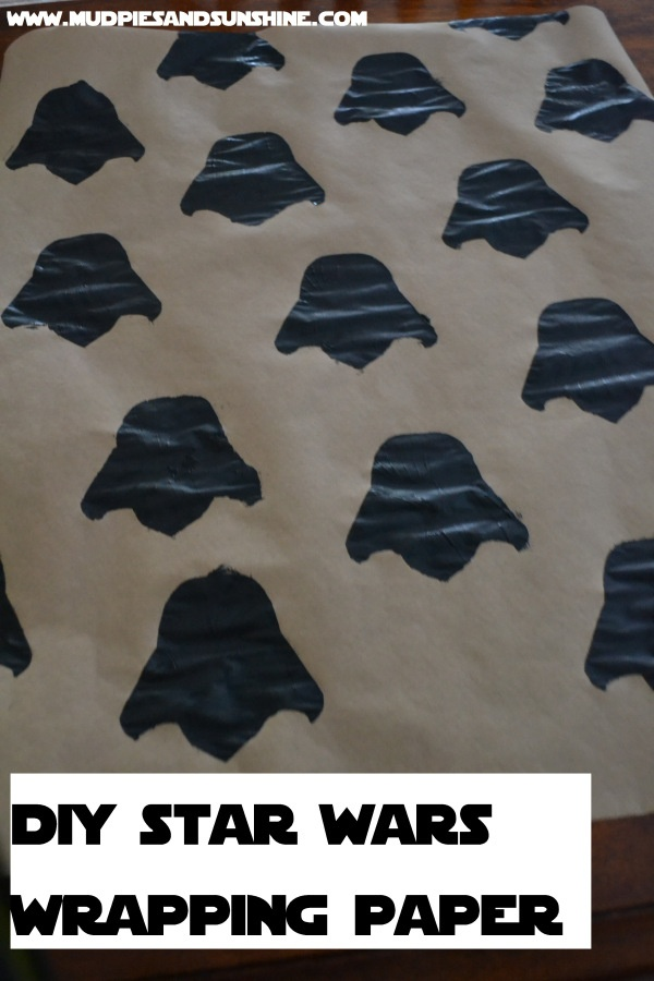 DIY Easy Star Wars Wrapping Paper - MUDPIES AND SUNSHINE