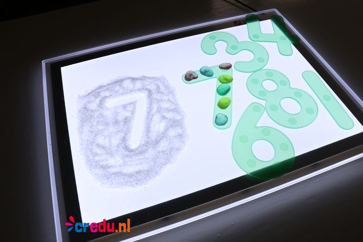 Lichttafel - Siliconen cijfers - http://credu.nl/product-categorie/lichttafel-en-sensomotoriek/