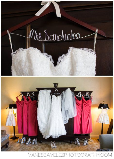 The bride and bridesmaids dresses displayed as you prepare for your big day. Destination Wedding | El Conquistador Resort & Las Casitas Village | Puerto Rico | ElConResort.com Vanessa Velez Photography