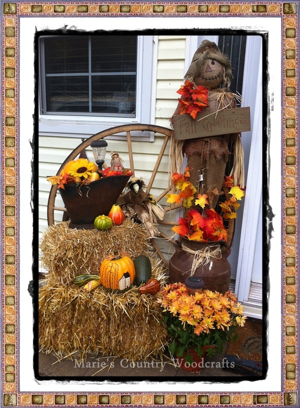 Just wanted to show you my outdoor fall decor I just need