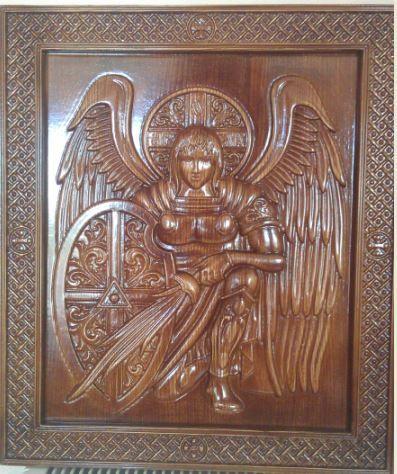 Икона деревянная резная архангел михаил - Аметист НПК, ООО Свердловск (Украина) - купить, цена, фото