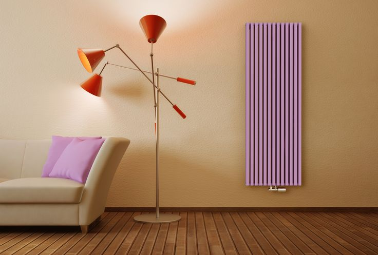 Ruby Twin - Designer home radiator with high heat output. Popular at reconstructions of interiors. Modern room radiator. Available in vertical or horizontal version. Coloured radiator - in 216 colours and textures. Central heating radiator. Delivery: 4 weeks.