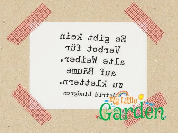 Stempel Zitat Astrid Lindgren Es Gibt Kein Verbot Fur Alte Weiber