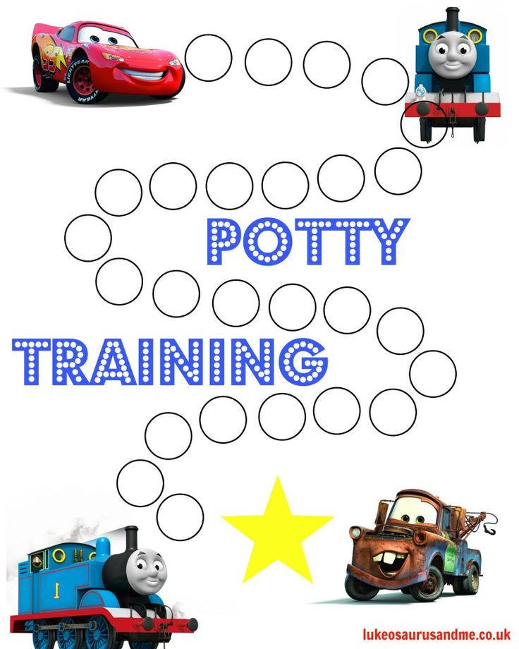 Free printable Thomas and Cars Potty Training Chart   - free chart