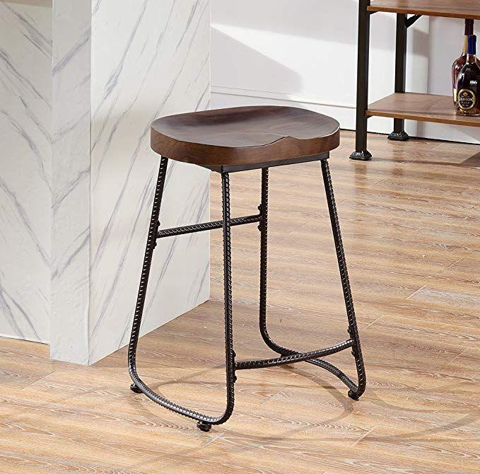 O K Furniture Contoured Saddle Seat 24 Inch Backless Bar Stool