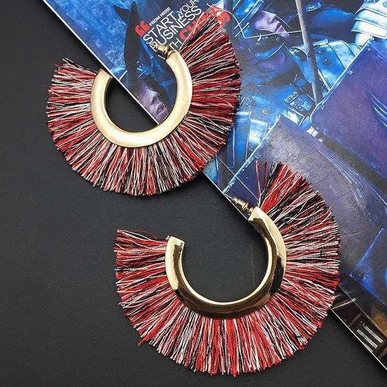 MANILAI 6 Colors Cotton Tassel Earrings Bohemia Alloy Big Stud Earrings For Women Statement Fringe Earrings Geometric Jewelry-in Stud Earrings from Jewelry & Accessories on Aliexpress.com | Alibaba Group