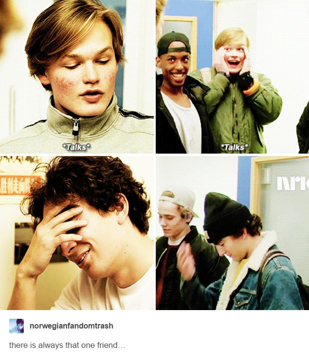 Magnus was so excited to meet Even though... this had to be one of the most pure scenes in the show. #Skam