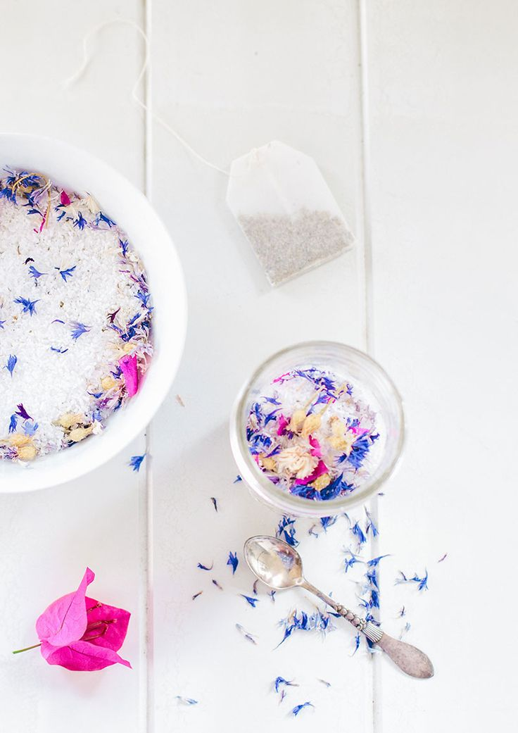 DIY Floral Bath Soak   Make your own aromatic bath salts for stress, headaches and muscle aches.
