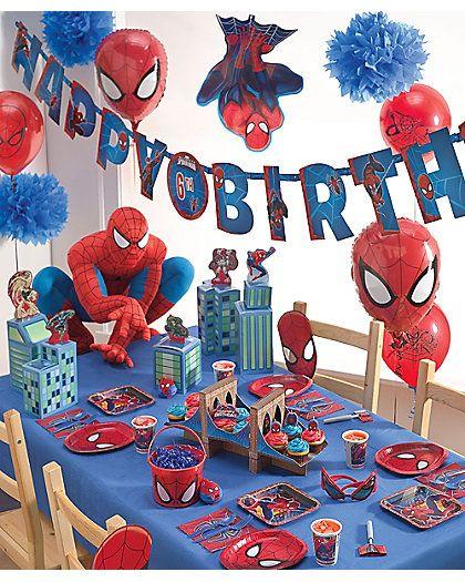 spider-man® party Love the bridge cupcake holder.