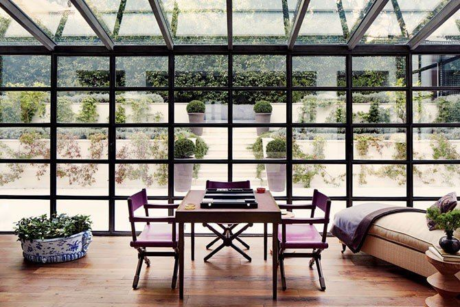 Glasswall - Interiors + Inspiration : Architectural Digest: Conservatory, Sunrooms, Glasses Wall, Windows, Monte Carlo, House, Montecarlo, Architecture Digest, Sun Rooms