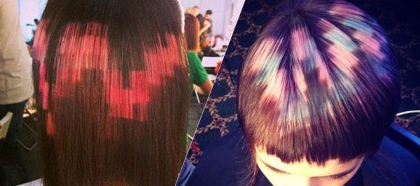 La coloration de cheveux en pixel art, nouvelle tendance WTF ?   Niooz.fr