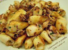 Calamaretti in padella, ricetta veloce