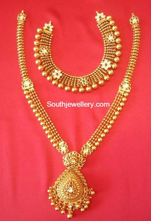 Antique Necklace And Long Chain Gold Jewelry Simple
