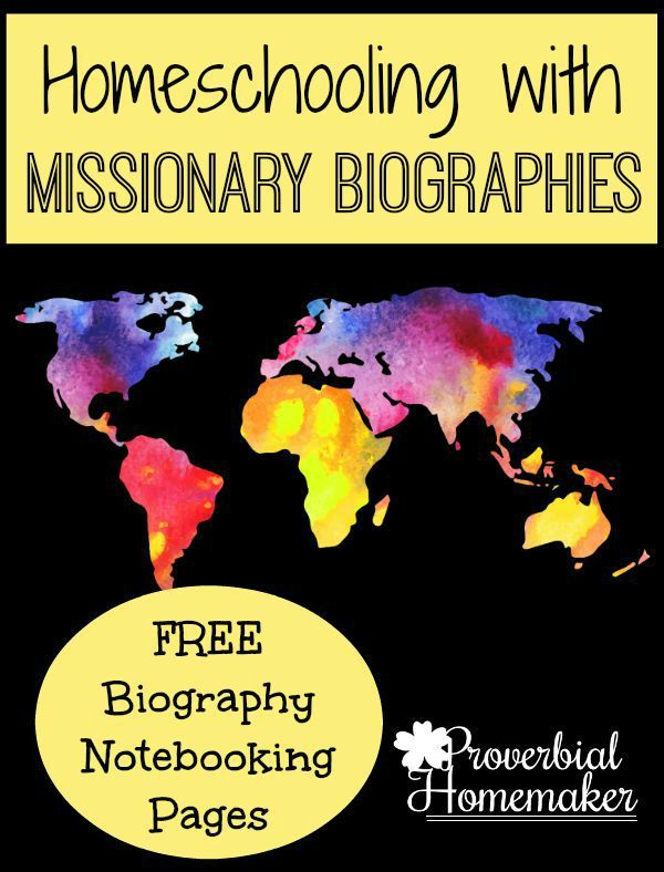 Teach your children the amazing stories of faith with homeschooling unit studies based on missionary biographies!