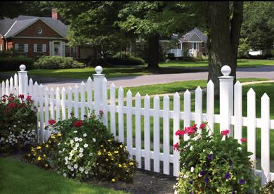 White Vinyl Picket Fence....the perfect accesory to ANY adorable garden.
