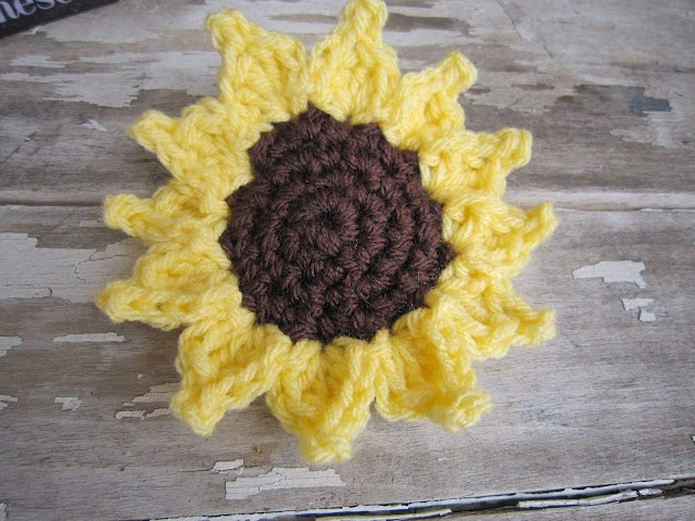 free sunflower crochet pattern Products I Love ...