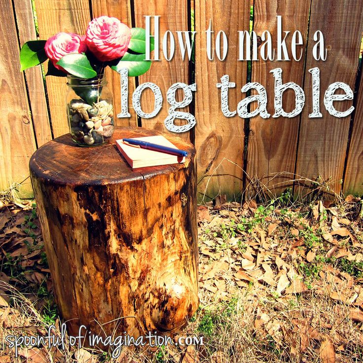 Log End Tables Woodworking Projects Plans