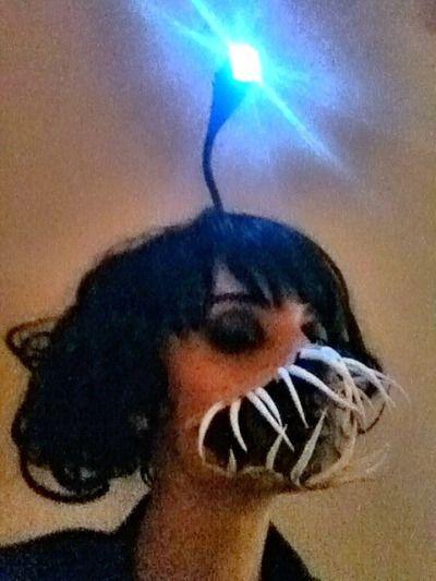 angler fish costume makeup