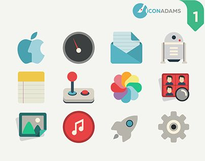 "Check out new work on my @Behance portfolio: ""Flat iCons Applications 2016 ( for…"