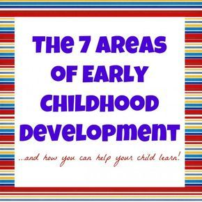 The 7 Areas of Early Childhood Development...and how you can help your child learn!