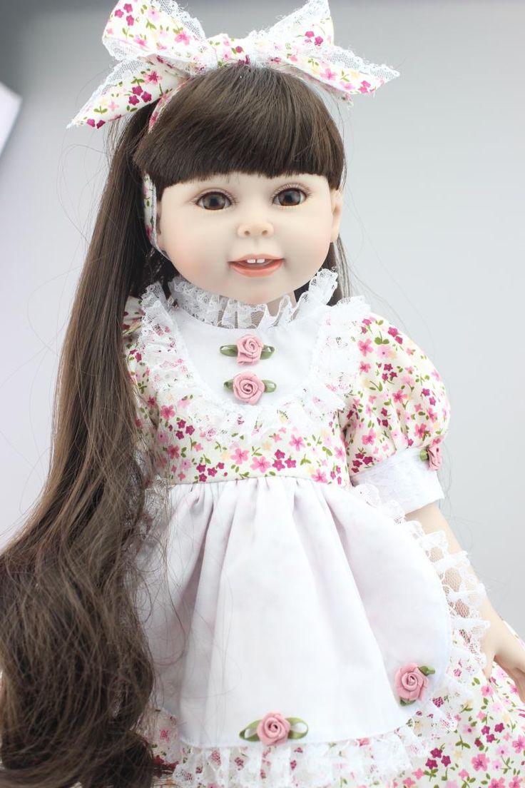 Самые Популярные 45 см NPK Американский Бренд Милая Девушка Кукла Может купаться С Детьми Реалистичные Моделирование Силиконовые Возрождается Ребенка Куклы Для продажа купить на AliExpress