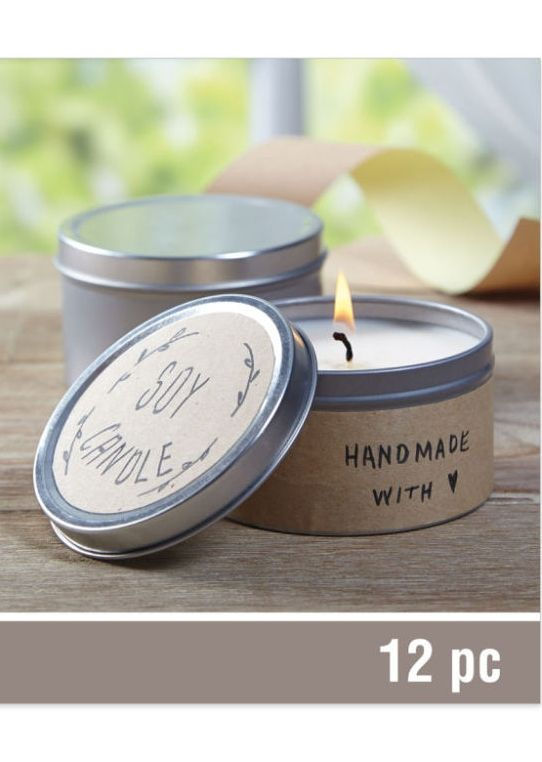 Made with Love Sandalwood Tin Candle Kit by Celebrate It™ Create two beautiful, slow burning candles with this easy-to-use kit. Featuring classic candle tins, this kit has everything you need to create trendy sandalwood-scented candles. You can personalize each candle with the included kraft labels to create gifts for friends or family members.