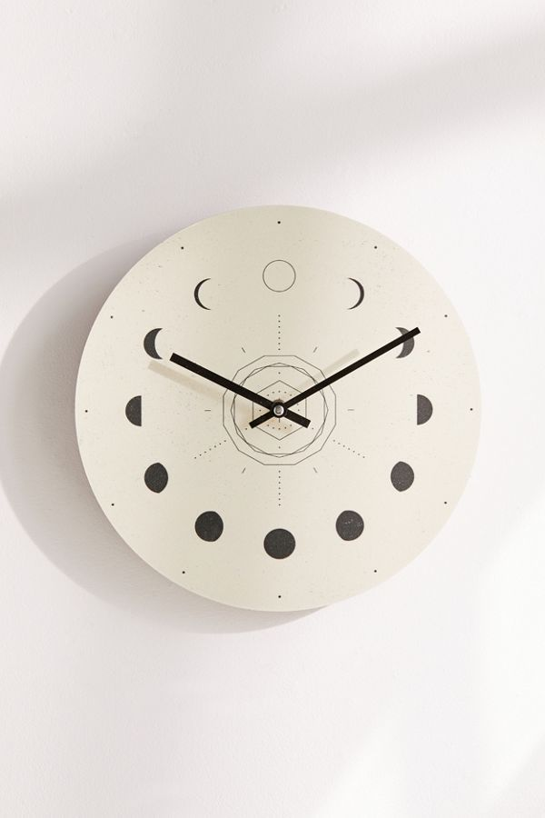 Nayla Smith For Deny Moon Phases 12 Wall Clock With Images Wall Clock Clock Moon Clock