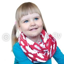 Tube scarf tricot, for kids