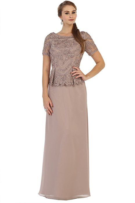 8aec226d54 May Queen MQ1427 Classy Short Sleeve Mother of The Bride Dress (4XL ...