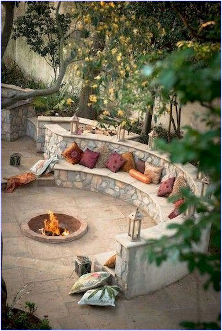 Romantic Garden Design With 40 Outdoor Fire Pits 20 In 2020