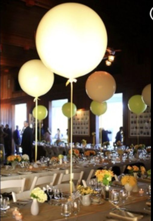 Balloon centerpiece wedding reception idea pinterest