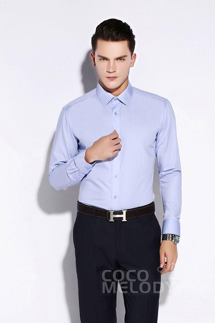 Modest Dress Shirts Mens Formalwear Spread Collar LT0015013 #men'swear #men'sfashion #hisfashion #shirts #cocomelody