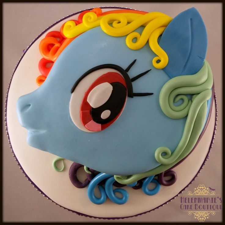 chrome heart eyeglasses Rainbow Dash  My Little Pony Cake