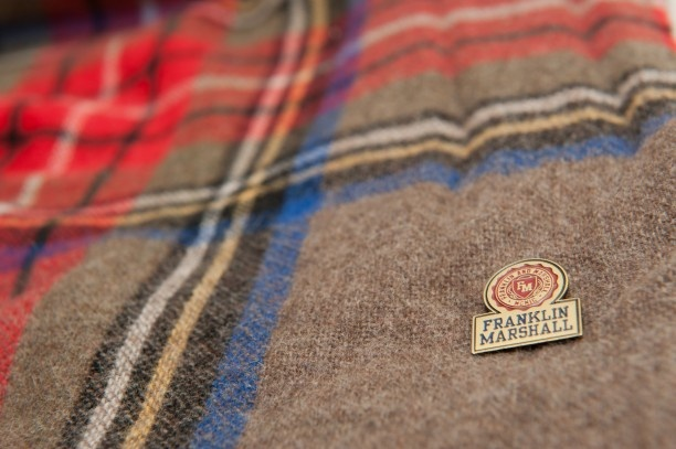 A warm and wide scarf that can be worn in a variety of ways #franklinandmarshall