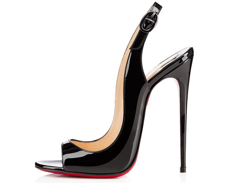 Christian Louboutin Allenissima 130 mm Black Patent Leather Pump Fall 2014 # Louboutins #Heels