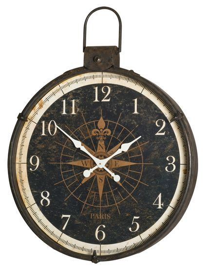 The Compass Wall Clock from Urban Barn is a unique home decor item. Urban Barn carries a variety of Clocks and other  products furnishings. Fell in love with it as soon as I saw it. Have the perfect wall for it.
