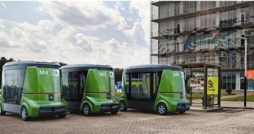 """Уже через 2 года в Москве появятся первые беспилотные автобусы """"Матрешка""""."""